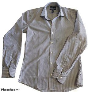 *3/$55* Slim fit striped dress shirt NWOT